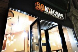 front of 50Kitchen in Dorchester