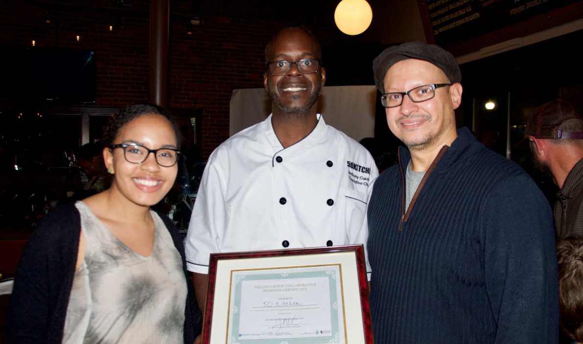 Chef Caldwell after winning the contest that won him his first restaurant